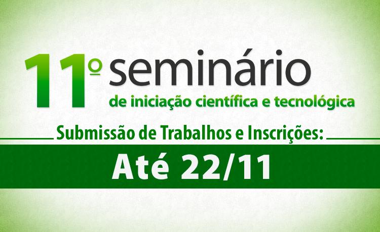 Banner do seminario de iniciacao cientifica e tecnologica