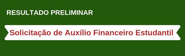 Banner Auxílio Estudantil - Preliminar