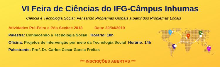Banner Feira de Ciências - 30 de Abril