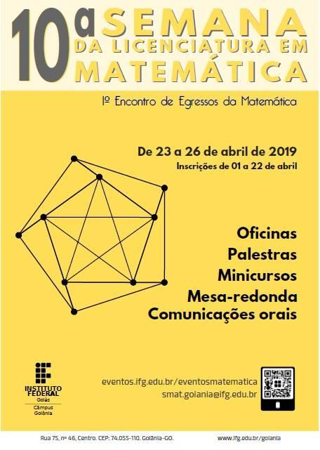 Cartaz da 10ª Semana da Licenciatura em Matemática