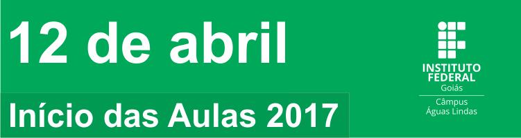 Início das aulas 2017