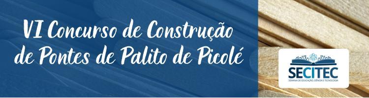 Banner VI Construção de Pontes de Palitos de Picolé