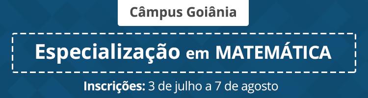 Especialização Matemática 2017/1