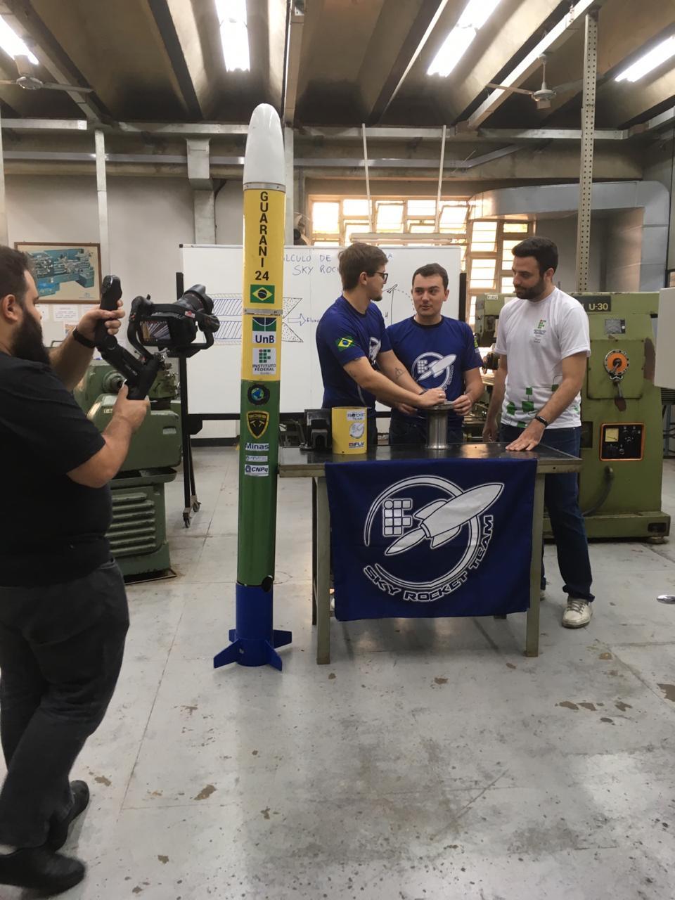 Um dos projetos do Câmpus Goiânia que estará na Campus Future é o foguete do Sky Rocket Team