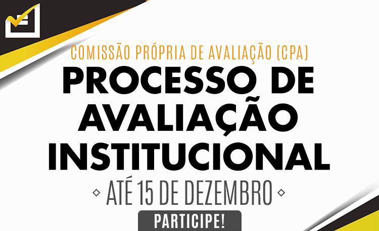 Questionário para avaliação institucional estará disponível a partir do dia 1º