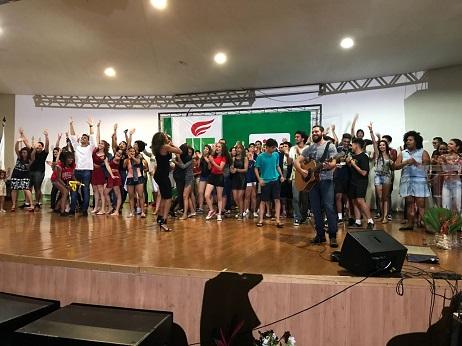 Estudantes em festa na abertura do JIF Goiás 2018