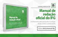Manual de redação oficial do IFG